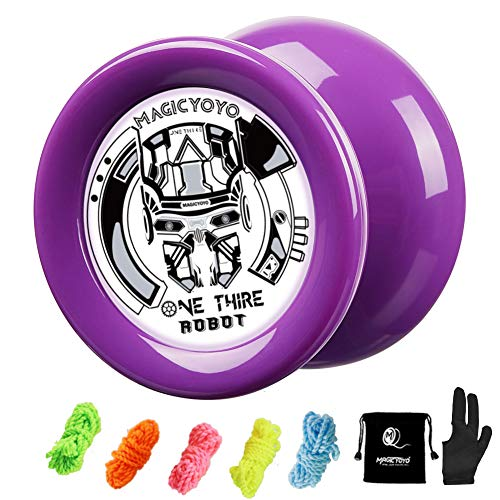 Magicyoyo Responsive Yoyo D2 Onethird, Looping Professional Yoyo, Best Yoyo For Kids Beginners With 5 Strings, Yo Yo Glove, Yo Yo Bag (purple)