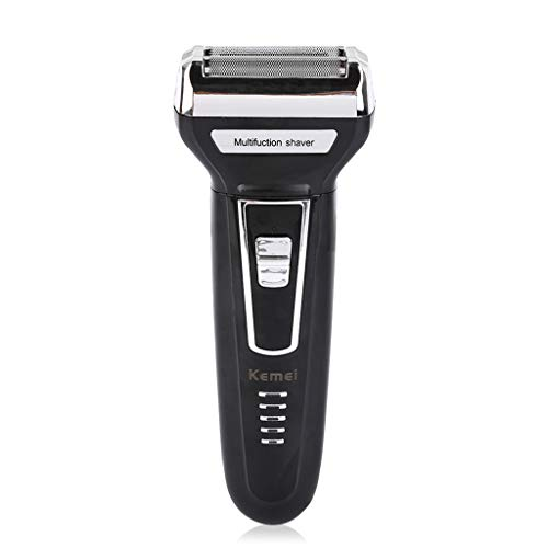 Men's Razor, Reciprocating Double Cutter Head Multi Function Three In One Electric Shaver Nose Hair Trimmer, Men's Best Gift,black
