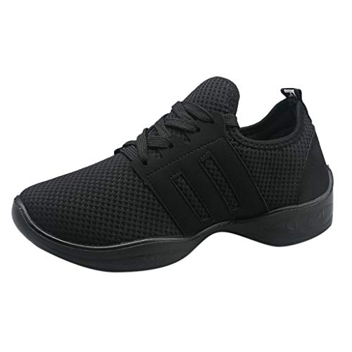 Nygstore Best Running Shoes For Women 2019,women' S Modern Jazz Dance Sneakers Shoes Mesh Breathable Running Casual Shoes Black