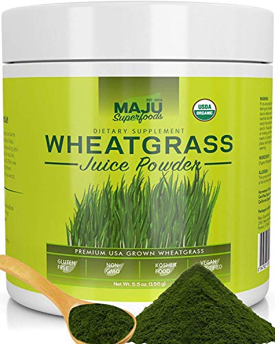 Organic Wheatgrass Juice Powder: Grown In Volcanic Soil, No High Temperatures Used, Non Gmo, Instant Juice Powder, Simply The Best On Earth