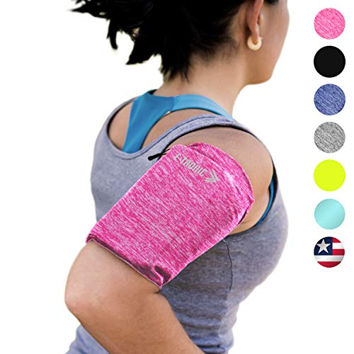 Phone Armband Sleeve Arm Band: Best Running Pink Sports Strap Holder Pouch Case Bag For Exercise Workout Fits Iphone 6 6s 7 8 Plus Ipod Android Samsung Galaxy S5 S6 S7 S8 S9 Note 4 5 Lg Pixel (medium)