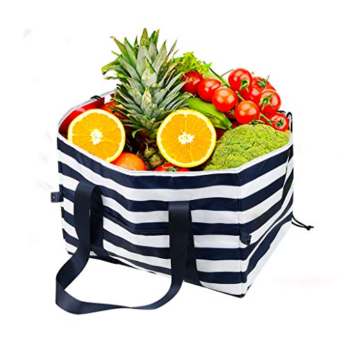 Reusable Insulated Grocery Bags, Extra Large Capacity, Foldable And Washable Eco Friendly Thermal Bag, Best Used As Food Bags, Shopping Bag Or For Delivery And Travel