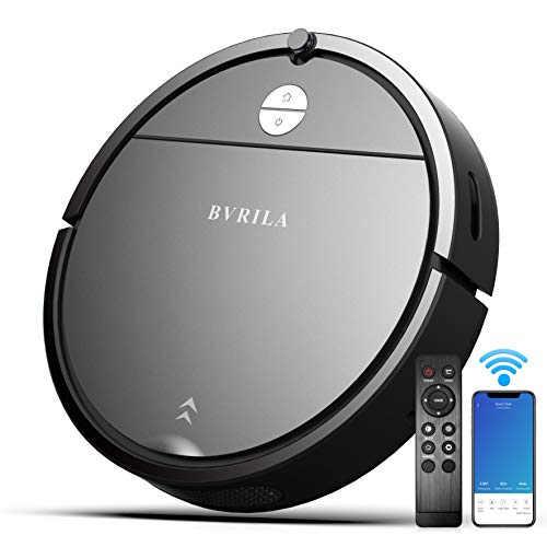 Robot Vacuum, 1800pa Robotic Vacuum Cleaner With Self Charging, 360° Smart Sensor Protectio, Multiple Cleaning Modes Vacuum Best For Pet Hairs