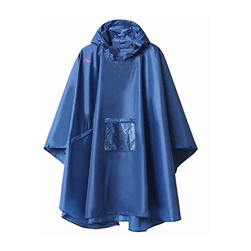 Sb1 Rain Poncho With Transparent Front Pocket Full Hooded Rain Gear For Men And Women Foldable Waterproof Pu Raincoat With Zipper Best For Motorcycle Travel, Hiking, Fishing, Camping, Survival
