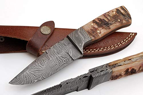 Sharpworld 8 Inches Beautiful Damascus Knife Made Of Remarkable Damascus Steel Ram Handle Best Hunting Knife With Sheath Tj108