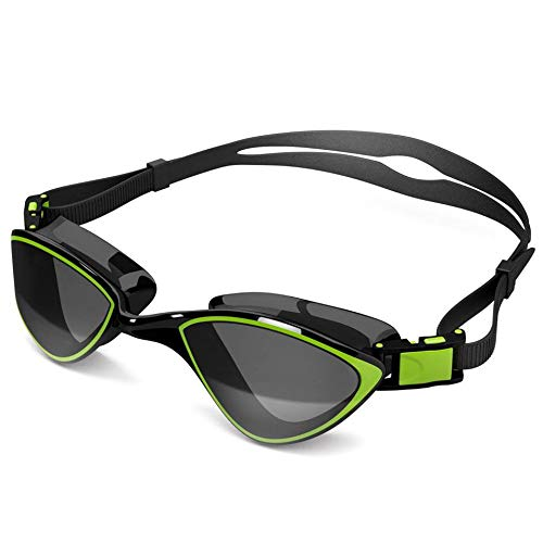 Swim Goggles For Adult Men Women Best For Lap Swimming, Training In Pool, Open Water, Triathlon, Cool Competitive Swim Equipment For Youth, Kids Over 14, No Leak, Anti Fog With Uv Protection Lenses