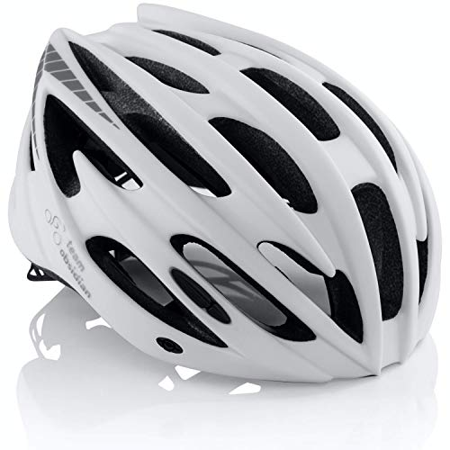 Teamobsidian Airflow Bike Helmet [ White L/xl ] For Adult Men & Women And Youth/teenagers Cpsc Certified Bicycle Helmets For Road, Street Or Mountain Biking Best Cycling Gift Idea