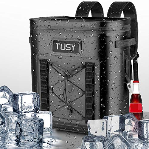Tusy Best 20 Cans Soft Cooler Backpack Portable Waterproof Leak Proof Insulated Bag & Keep Cold 48 H For Picnics, Camping, Hiking Or Beach