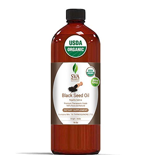 Usda Certified Organic Black Seed Carrier Oil (16 Oz) Guaranteed 100% Pure & Natural, Authentic & Premium Therapeutic Grade Cold Pressed, Unrefined, Best For Skin, Hair