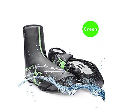 V Best Bike Shoe Covers, Outdoor Sports Cycling Shoe Covers Waterproof Warmer Overshoes Shoe Cover For Men Women Mtb Winter Rain Cycle Bicycle Mountain Road Toe Cover (green, Standard)