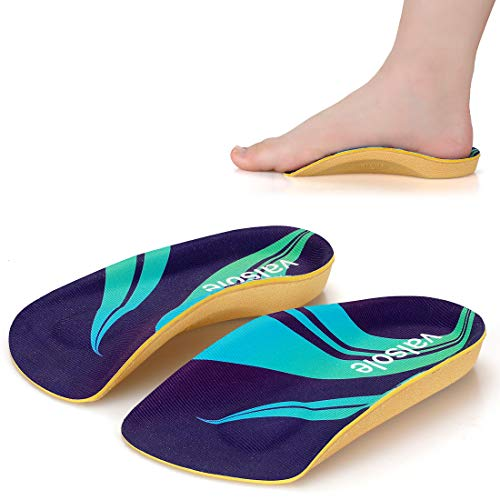 Valsole 3/4 Length Plantar Fasciitis & Arch Support Shoe Inserts Insoles For Men & Women – Best Original Orthotics For Flat Feet, Over Pronation, High Arch//all Day Relief Heel Spur Pain