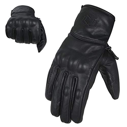 Wfx Premium Leather Best Knuckle Protection Motorcycle Gloves Street Bike (large)