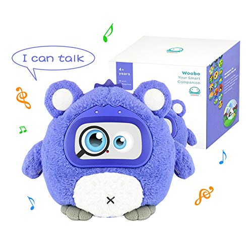Woobo Plush Interactive Robot Toy For Curious Kids Stuffed Talking Toys With Songs, Stories, Games, Voice Interaction, Alarm Clock, App And Touch Control, Best Gift For Boys Girls …