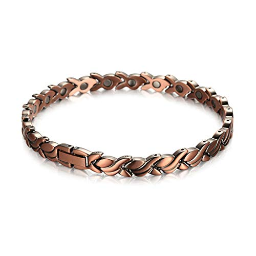Z&ha Womens 99.95% Pure Copper Magnetic Handmade Bracelets With 20 Powerful Magnets, 3500 Gauss Effective & Natural Relief For Joint Pain And Arthritis, Best Gift,ha1551