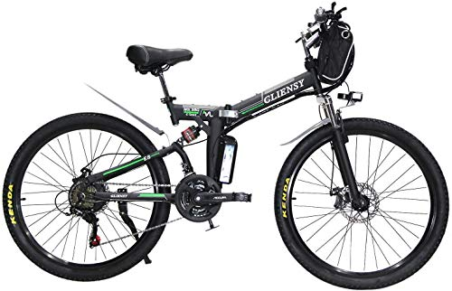26 Inch 3 Cycling Mode Electric Bike, 350w Folding Ebike With Removable 36v 8ah Lithium Battery For Adults, 21 Speed Shifter .while Saving Money Is The Best Combination[ready Stock] (black)
