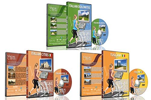 3 Disc Set Combo Pack Best Of Italy Virtual Walks Dvd Box Set For Indoor Walking, Treadmill, Elliptical Trainers And Spin Bikes Workouts