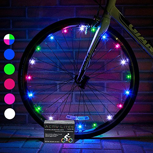 Activ Life Led Bicycle Wheel Lights (2 Tires, Multicolor) Best For Kids, Top Stocking Stuffers Of 2020 Popular Gifts For Children Exercise Toys Child Bday Party Outdoor Family Fun