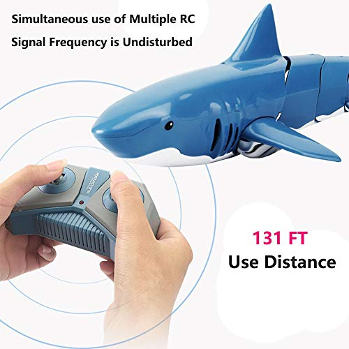 Ailejia Rc Shark Boat 2.4g Remote Control Electric Racing Boat Electric Racing Shark Animal For Swimming Pool Bathroom Toy Best Gifts For Adults & Kids