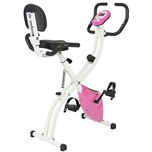 Best Choice Products Folding Exercise Bike Pink