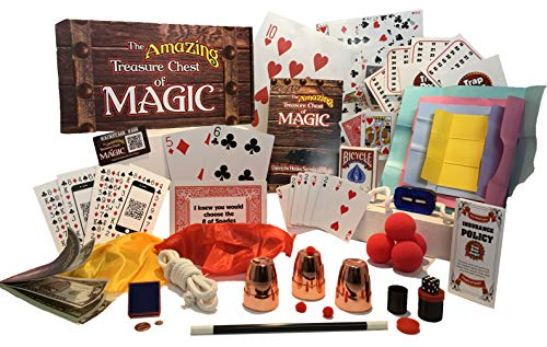 Best Magic Tricks For Kids 8+ Magic Kit With Magic Cards, Coins, Balls, Color Changing Scarves, Rising Wand And More The Amazing Treasure Chest Of Magic Set Complete Course With Video Lessons