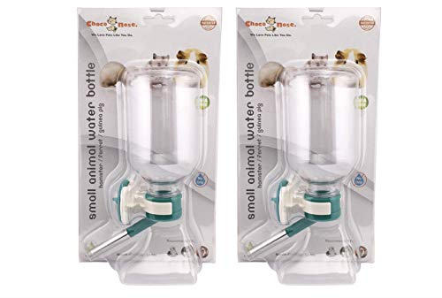 Choco Nose H128 No Drip Guinea Pig Water Bottle Best Small Animal Wire Cage Dispenser Waterer U.s Patent Leak Proof Nozzle Pet Crate Drinker Bunny Ferret Hamster Rabbit Critter Bpa Free 11.2oz Greenx2