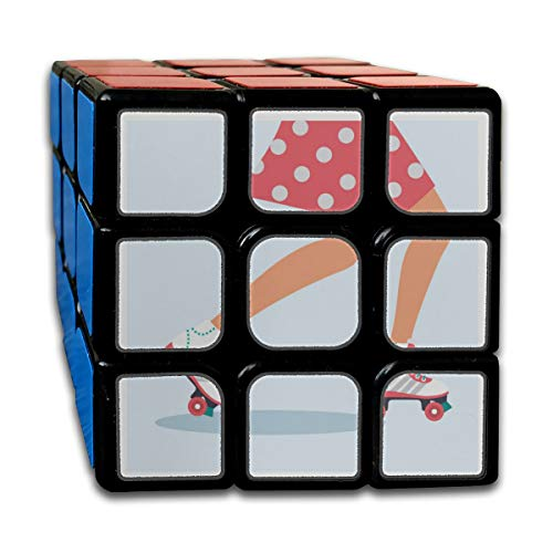 Custom 3x3 Speed Cube Kids Best Brain Training Toys 3x3x3 Sports Roller Skate Shoes Cube 3 Magic Party Game For Boys Girls Kids Toddlers 55mm