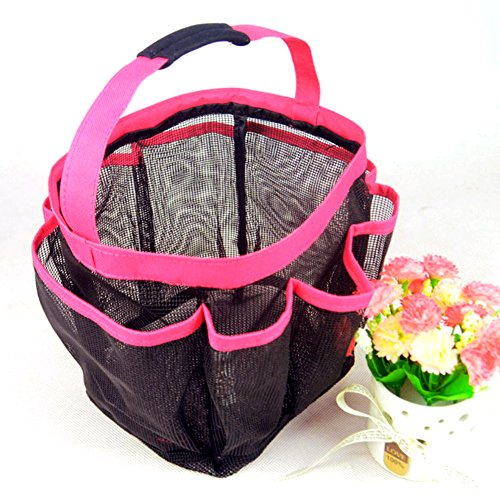 Dckr Best 8 Pocket Portable Shower Caddy (pink) With Mesh Type In Quick Dry At The Travel Toiletry Bathroom Makeup Gym Dorm For Beach Tote Bag