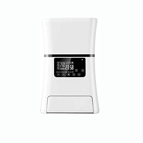 Dlinmei Best Choice Products Smart Automatic Pet Feeder With Hd Camera, Portion Control, 5l Food Capa City, Voice Recorder Microphone, For Cats And Dogs (color: White)