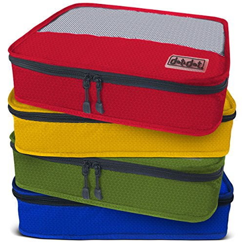 Dot&dot Medium Packing Cubes For Travel 4 Piece Best Assorted Luggage Accessories Organizers