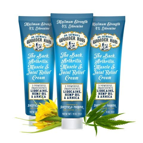 Dr. Sayman's Wonder Rub Best Pain Relief Cream For Back, Arthritis, Muscle & Joint Pain/arnica With A Botanical Blend / 3 Pack (12oz)