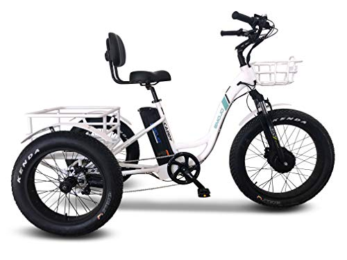 Emojo Caddy Pro/caddy Electric Tricycle 48v 500w Best Electric Trike 24 Inch Fat Tire 3 Wheel E Bike Electric Bike Rear Basket Cargo For Heavy Carrying (caddy Pro)