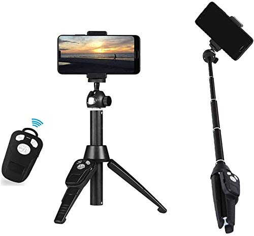 Feceyq Rugged Tripod Pc Bluetooth Selfie Stick Tripod Mini All In One Bluetooth Camera Selfie Stick Desktop Stand Suitable For Outdoor Live Broadcast Best Gift