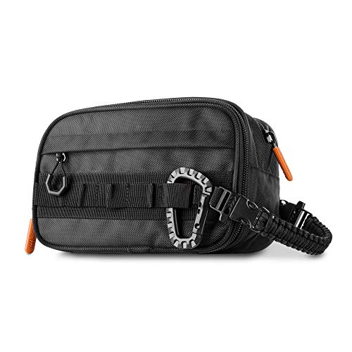 Fitdom Tactical Toiletry Bag Dopp Kit Case For Men. Perfect For Travel & Storage. Fits Large & Small Cosmetic Makeup, Clipper, Toothbrush, Shower, Shaving & Grooming Care. Best Overnight Organizer
