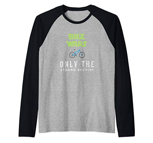 Funny Best Mountain Biking Bike Wars. Boys And Girls. Raglan Baseball Tee