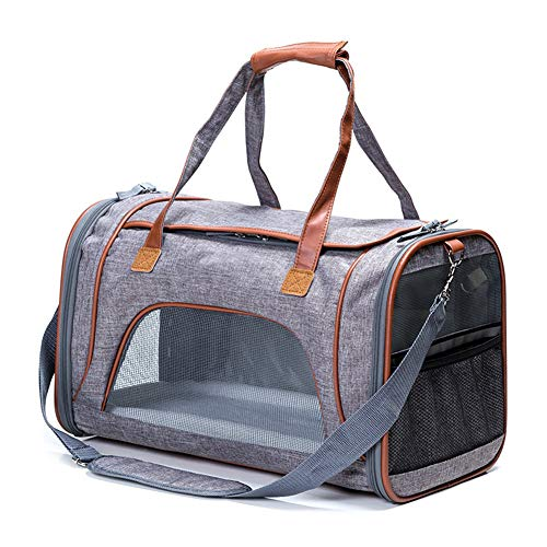 Gpfdm Airline Approved Soft Sided Under Seat Pet Carrier Best For Small Dogs Cats Foldable Tsa Pets Carrier Bag In Cabin Mesh Air Travel Carriers,a