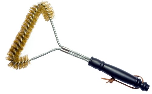 Grill Brush – 12 Inch, Brass Bristle Wire, Heavy Duty Brush Suitable For Cleaning Weber, Barbecook, Ducane And Nexgrill Gas, Electric And Charcoal Bbqs. Unlike Stainless Steel, Won't Scratch Porcelain Coated Barbecue Grills & Grates – Best Guarantee.