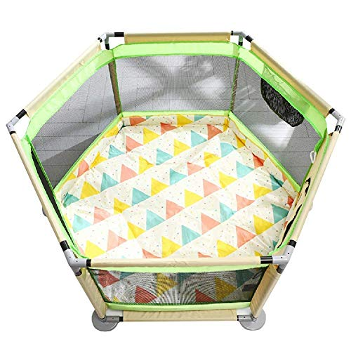 Hewei Playpen For Children Portable Baby Toddler Fence With Non Slip Mat Safety Barrier For Boys And Girls The Best Birthday Gifts Extra Large 65 Cm