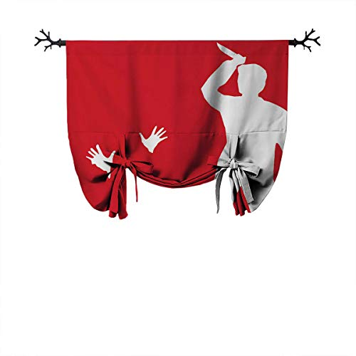 June Gissing Red White Men Knife Outlemulticolor The Best Home Fashion Thermal Insulation Roman Curtain Roman Curtain Decoration W39 Xl55