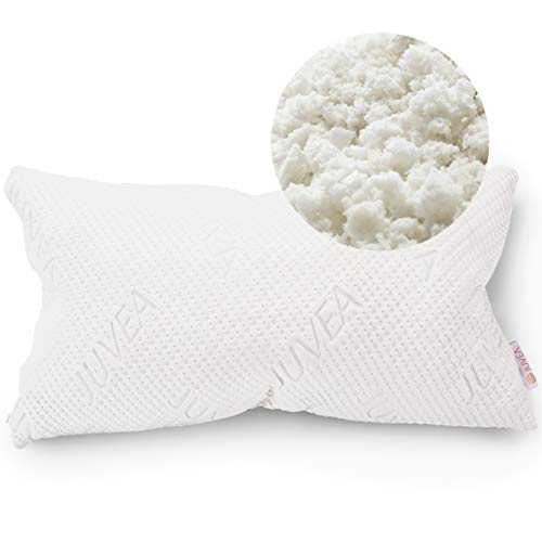 Juvea 100% Natural, Adjustable Talalay Latex Down Alternative Pillow, Cotton Breathable Cover, Best Sleeping Pillow To Support Head And Neck, King Size Pillow Comforfill – Made In Usa