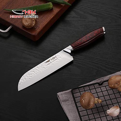 Kbk Santoku Knife 7 Inch Blade Chef Knife Japanese High Carbon Stainless Steel With Razor Sharp Cut Edge Best For Kitchen Daily Cutting