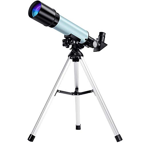 Kids Astronomical Telescope, 50mm Astronomy Refractor Telescope With 2 Eyepiece Tripod & Phone Holder & Carry Bag Best Gifts Of Educational Toys
