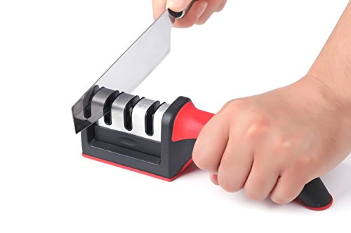Knife Sharpener Stone Kit For Kitchen Knives Best Easy To Use Professional Manual Sharpening System For Filet And Chef Knives