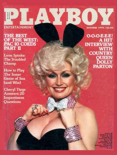 """Nxsbns Playboy Best Of West Magazine Cover Plaque Home Decor Metal Tin Sign 12"""" X 8"""""""