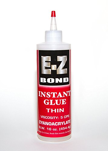Premium Super Glue Bundle Ez Bond Ca 16 Oz, 5 Cps Best Cyanoacrylate Adhesive Strongest Bond On The Market Doesn't Clog Perfect Wood And Shoe Glue Less Than A Minute Cure Time Works Excellent With Metal, Plastic, Ceramics & More.