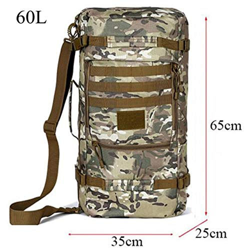 Qohnk 50 Litres Nylon High Grade Wearproof Travel Bag Best Backpack Male Large Capacity Casual Backpack Female Inclined Shoulder