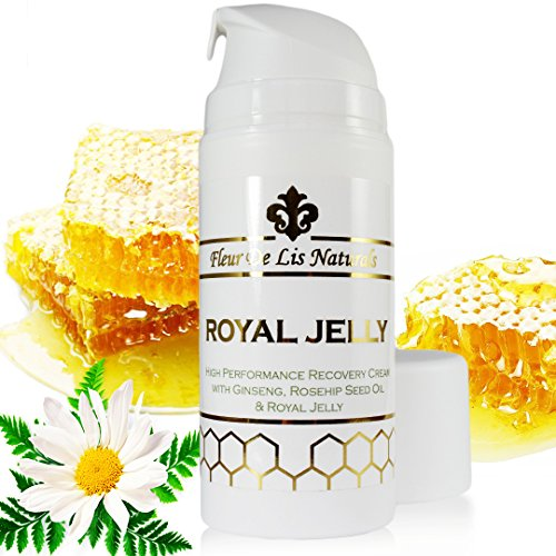 Royal Jelly Natural And Organic Face Moisturizer & Hand Cream, Anti Aging, Anti Wrinkles & Anti Acne Remedy, Best Treatment For Age Spots, Scars And Stretch Marks, For Women And Men, 3.38 Oz