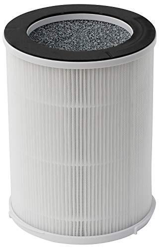 Silveronyx True Hepa Portable Filter Replacement (3 Speed, Large Room) Air Purifier Hepa Replacement Filters Best Hepa H13 Filter For Allergies, Pets, Smoke And Dust. For Large Room 500 Sq F White