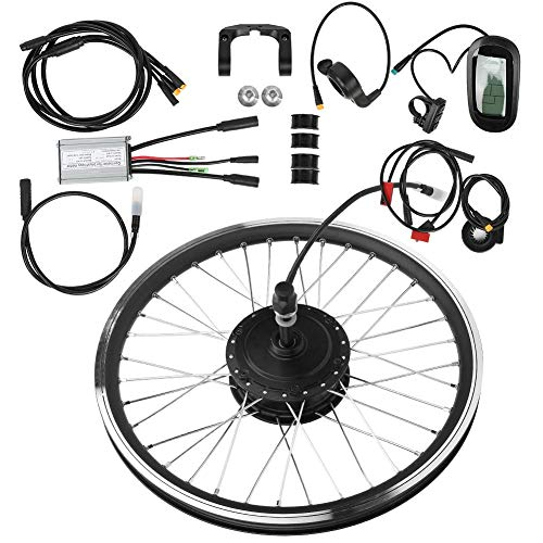 "T Best Electric Bike Conversion Kit, 36v 250w 28""kt Lcd6 Lcd Waterproof Electric E Bike Instrument Bike Conversion Kit 28'' Front Wheel High Power Motor Bicycle Hub(front Drive)"