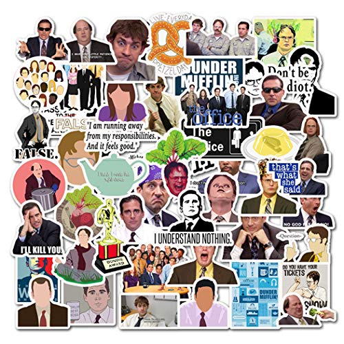 The Office Stickers Merchandise (50 Pcs), Funny Quote Vinyl Design Pack For Laptop Water Bottle Notebook Computer Car Bike Helmet Bumper, Best Gift For Teens, Adults, Friends