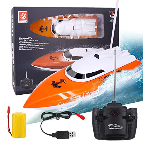 Upgrade Remote Control Boat, 2.4ghz Remote Control Boat For Pool And Lakes, Electric Rc Boat 180 Degree Auto Flip Recovery, High Speed Remote Boat Toys For Boys & Girls Best Gifts For Adults & Kids